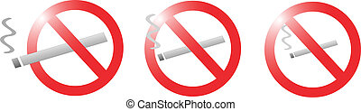 no smoke sign collection