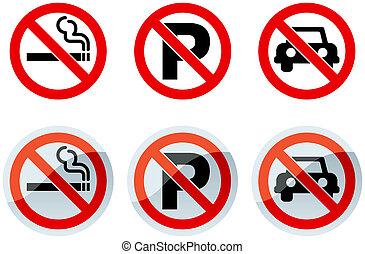 No Smoking and No Parking Signs