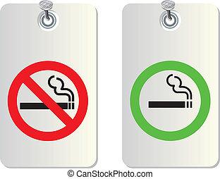No smoking and Smoking area
