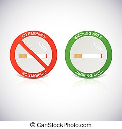 No smoking and Smoking area labels.