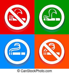 No smoking and Smoking area - Multicolored stickers
