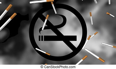 No Smoking Animated Background