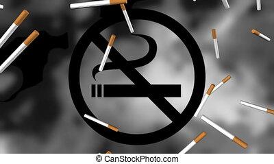 No Smoking Animated Background - No Smoking Looping Animated...