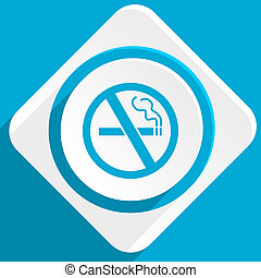 no smoking blue flat design modern icon for web and mobile app