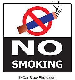 No Smoking Cigarette Area Sign