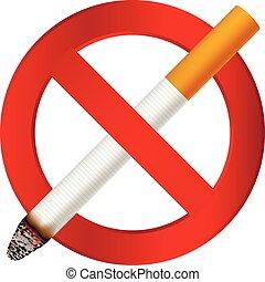 No smoking cigarette icon, realistic style
