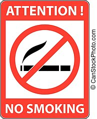 No smoking, cigarette prohibited symbol. Vector. - No...