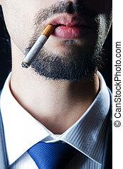 No smoking concept with cigarette