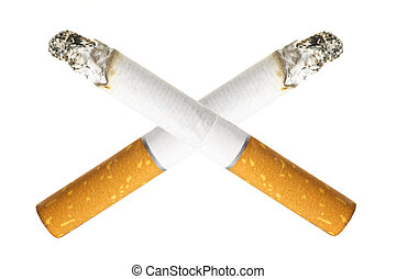 No smoking concept with two cigarettes