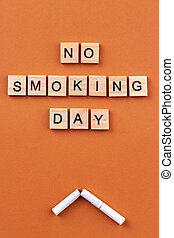 No smoking day concept.