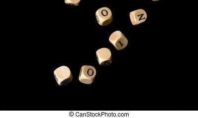 No smoking dice falling together