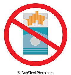 no smoking. flat icon. vector illustration.