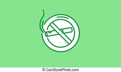 No Smoking line icon on the Alpha Channel - No Smoking line ...