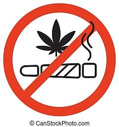 No Smoking marijuana forbidden