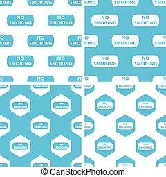 NO SMOKING patterns set