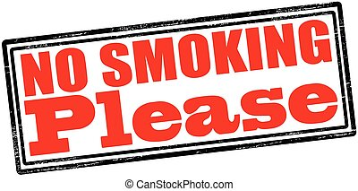 No smoking please - Rubber stamp with text no smoking please...