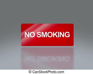No smoking rectangle signage 4K