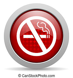 no smoking red circle web glossy icon