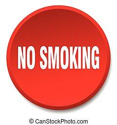no smoking red round flat isolated push button