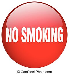 no smoking red round gel isolated push button