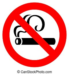 No smoking red sign