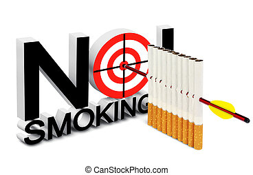 No smoking sign - Cigarette, arrow and a target in the ...
