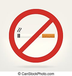 no smoking sign - cigarette illustration prohibition sign