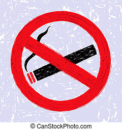 ?No smoking? sign