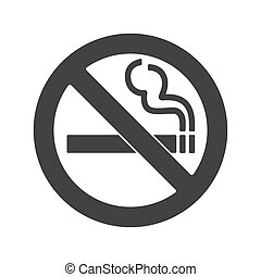No smoking sign. Forbidden sign icon isolated on white background vector illustration.