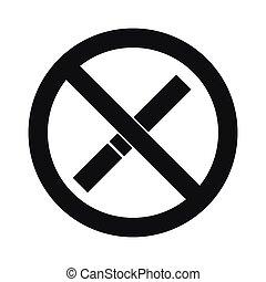 No smoking sign icon, simple style