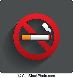 No smoking sign. No smoke icon. Stop smoking. - No smoking ...