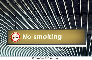 No smoking sign - no smoking sign on the airport