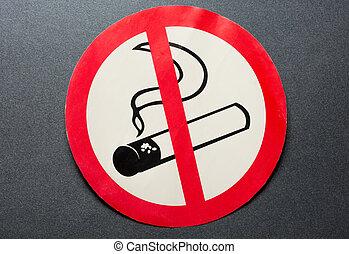 No smoking sign on background