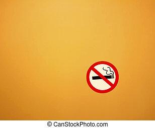 no smoking sign on grunge wall