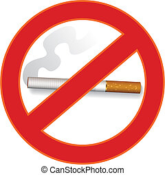 No smoking sign - Vector illustration of no smoking sign