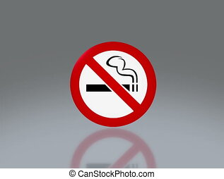 No smoking signage 4K - the notice of no smoking sign for...