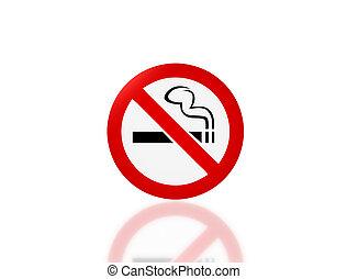 No smoking signage