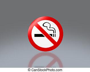 No smoking signage - the notice of no smoking sign for...