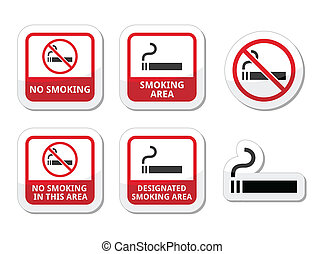 No smoking, smoking area vector ico