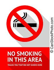 No smoking sticker, flat vector illustration design