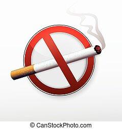 No smoking stop sign.