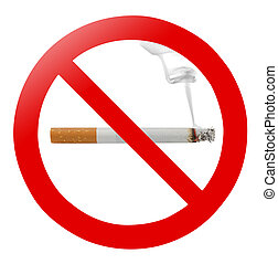 "No smoking - Traditional ""no smoking"" sign isolated on white"
