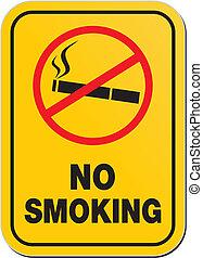 no smoking - warning sign