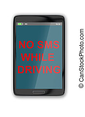 No SMS While Driving concept