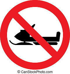 No snowmobile sign