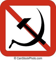 No socialism sign