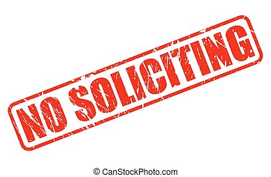 NO SOLICITING RED STAMP TEXT
