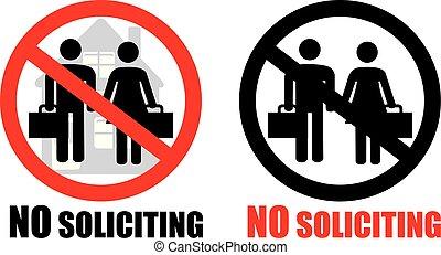 No soliciting symbol sign vector - No soliciting allowed ...