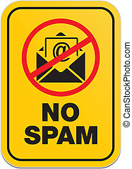 no spam - allert signs