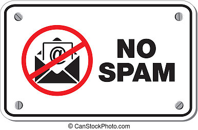 no spam rectangle sign